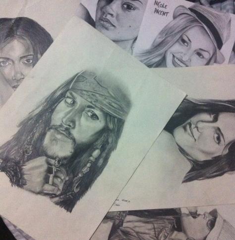 Desenho Rostos - Fernanda Hoffmann