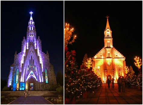 Catedral de Canela, e Catedral de Gramado