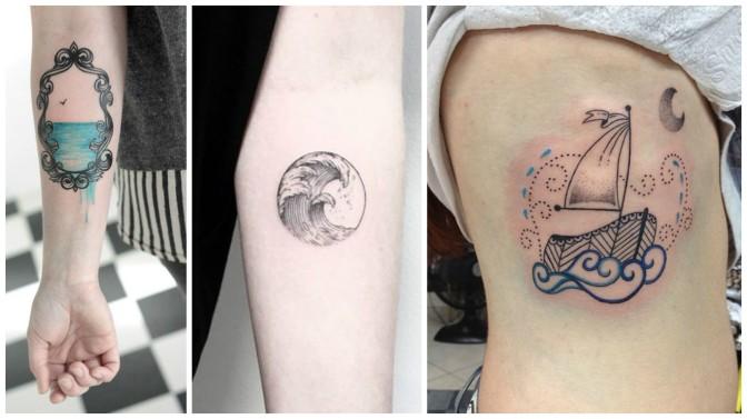 Tatuagem para quem ama o mar.