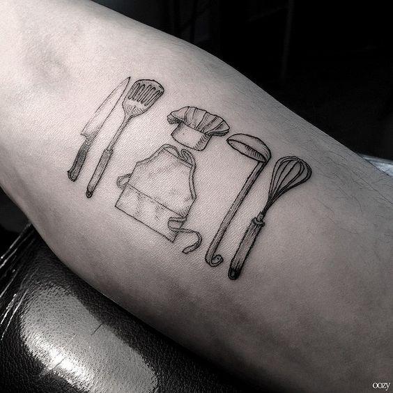 tatuagem culinária cozinhro