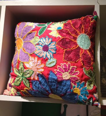 almofadas bordadas patchwork flores